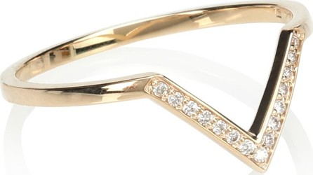 Anna Sheffield Chevron Bea Band 14kt yellow gold and diamond ring