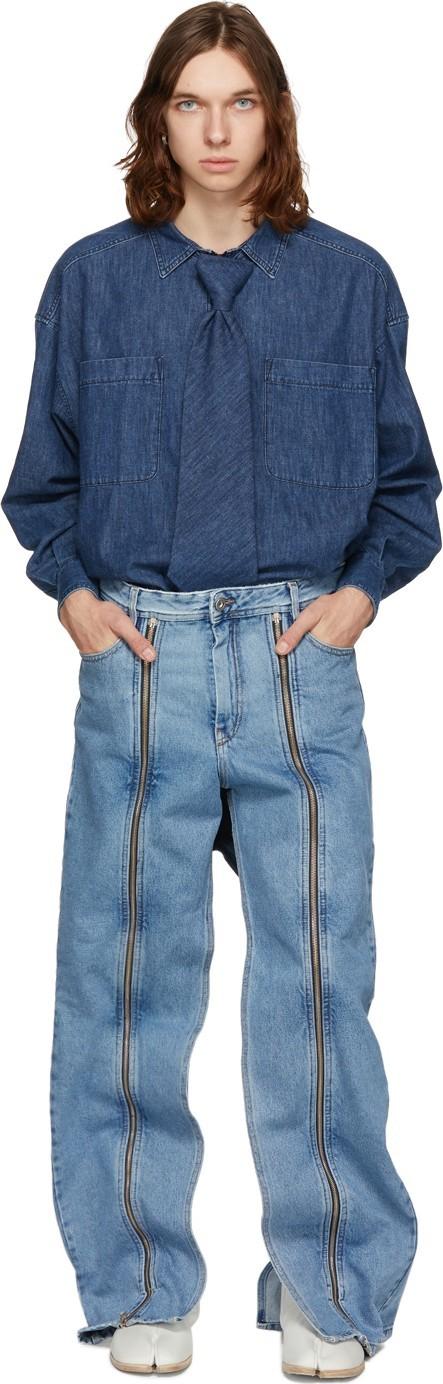 Diesel Red Tag Indigo Shayne Oliver Edition Ultimate Wide-leg Jeans
