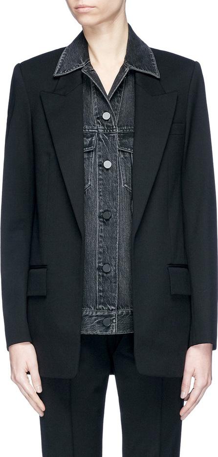 Alexander Wang Layered virgin wool blend denim jacket blazer