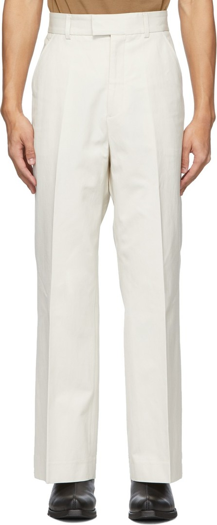 Our Legacy Off-White Twill High Top Chino Trousers