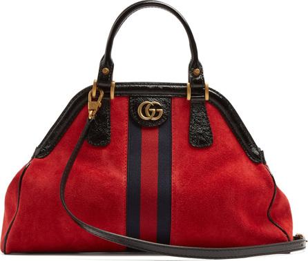 Gucci Linea suede tote bag