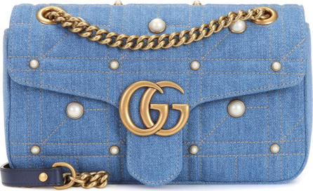 Gucci GG Marmont Medium denim shoulder bag