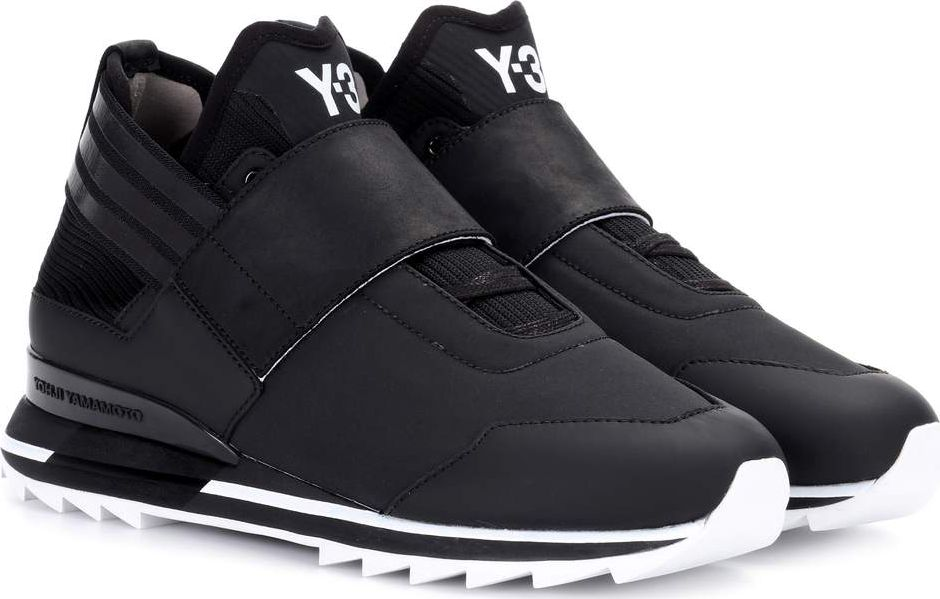 Y-3 - Atira leather-trimmed sneakers