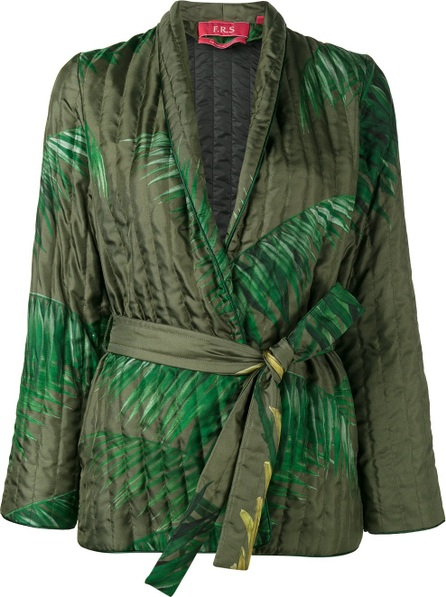 F.R.S For Restless Sleepers palm leaf print kimono jacket