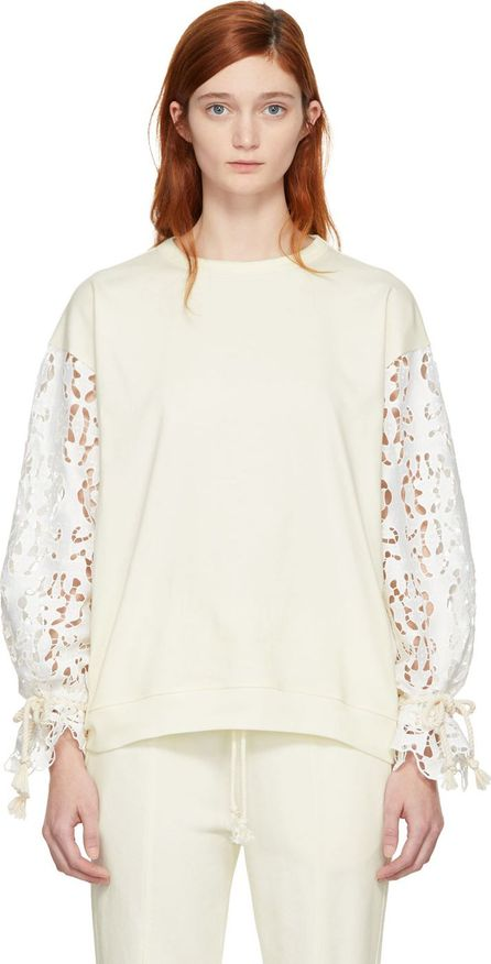 See By Chloé White Broderie Anglaise Sweatshirt