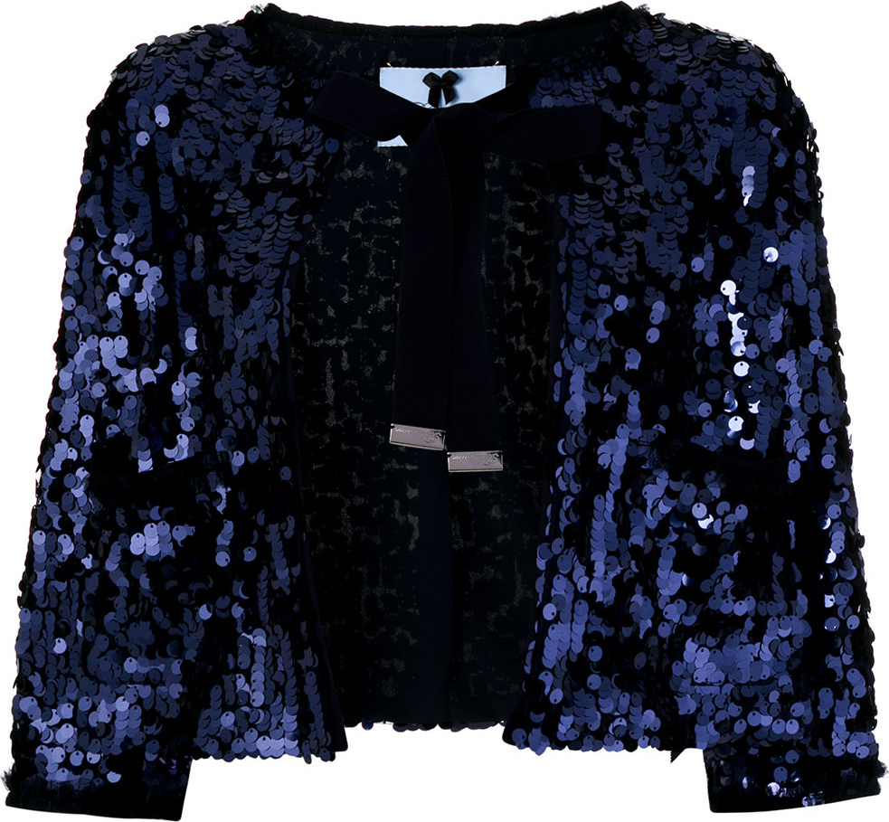 Blumarine - Sequinned shawl jacket