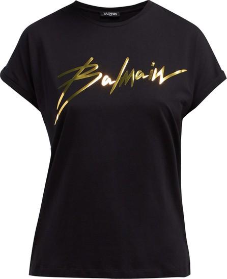 Balmain Logo-appliqué cotton T-shirt
