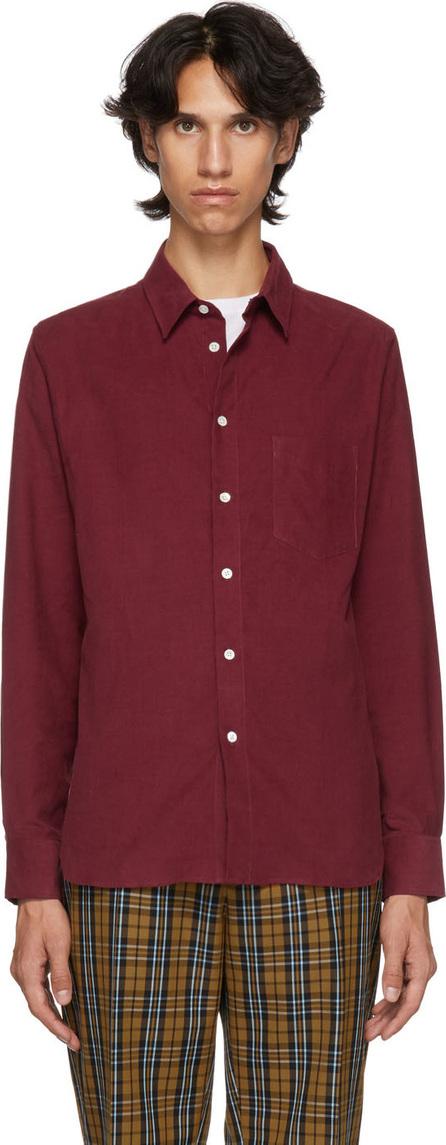Éditions M.R Burgundy Montparnasse Corduroy Shirt