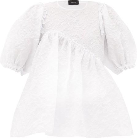 Simone Rocha Puff-sleeve floral-cloqué top