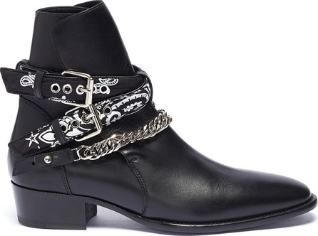 Amiri 'Bandana' curb chain strap leather boots