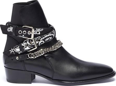 Amiri 'Bandana' curb chain strap leather boots