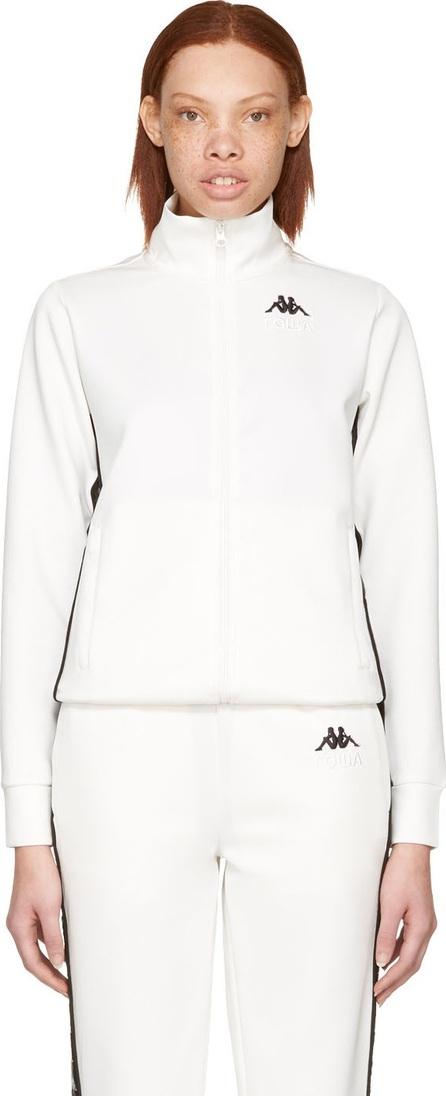 Gosha Rubchinskiy White Kappa Edition Logo Sleeve Track Jacket