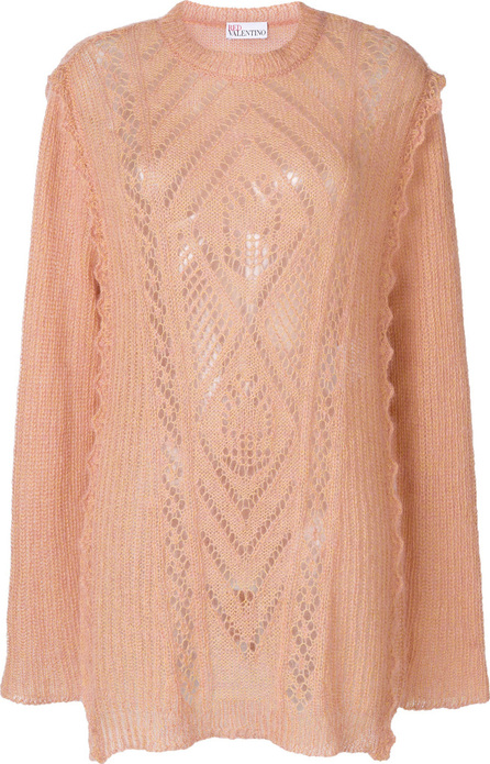 RED Valentino Multi-knit longline sweater