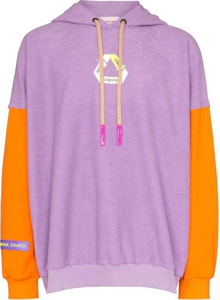 Duo Recycle motif print hoodie