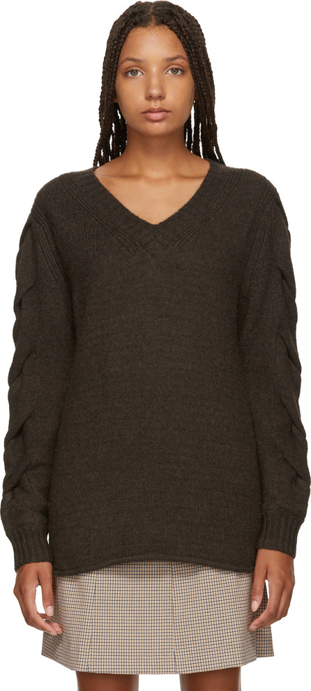 See By Chloé Brown V-Neck Sweater