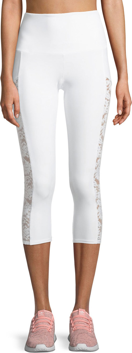ONZIE Stunner Capri Leggings with Lace Panels