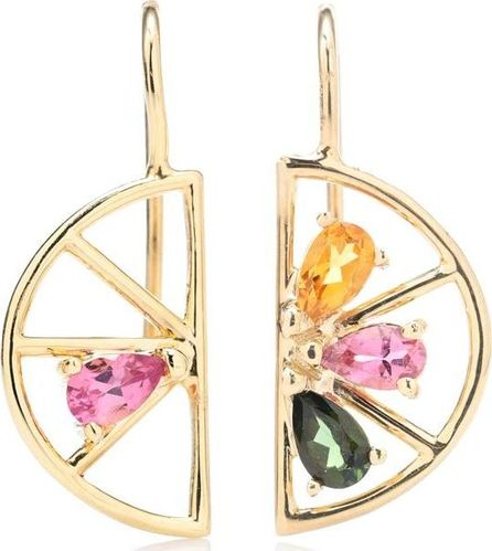 Aliita Media Naranja 9kt gold and tourmaline earrings