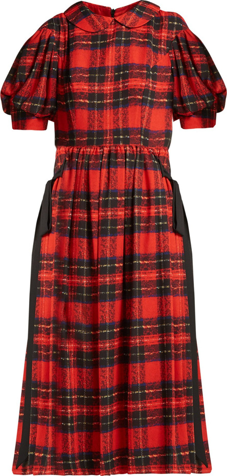 Simone Rocha Tartan georgette midi dress