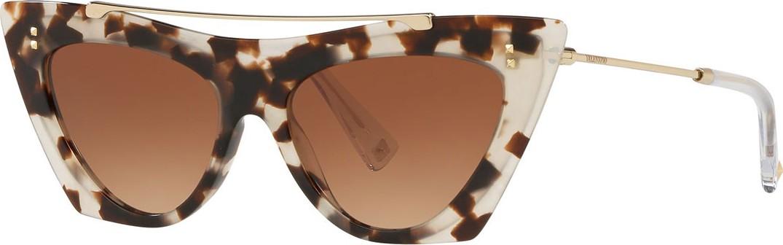 d1dcf6eebbf Valentino Acetate   Metal Brow Bar Cat-Eye Sunglasses in Pink - mkt