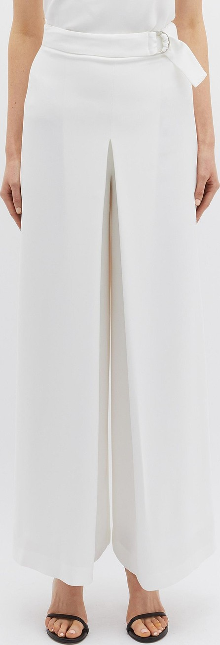 Bianca Spender Belted crepe wide leg pants