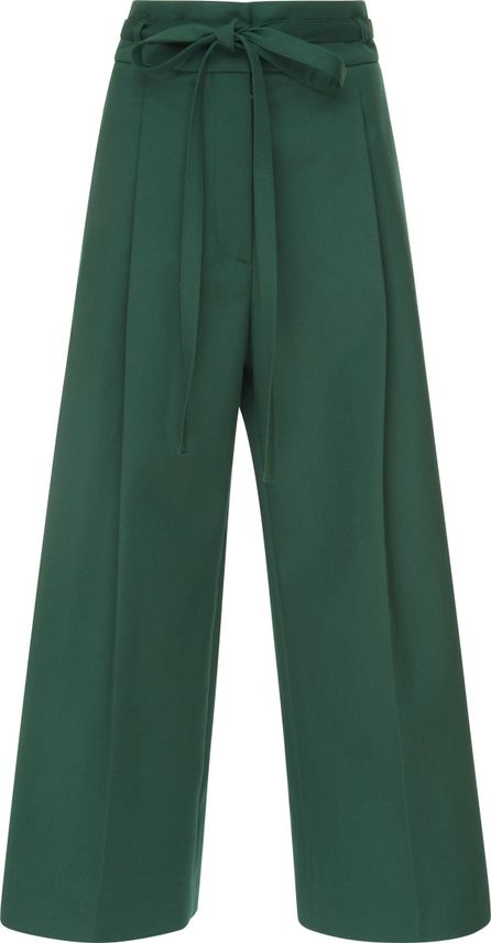 ROCHAS Wide Coulotte Belted Pants