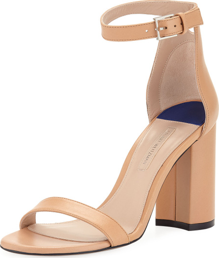 Stuart Weitzman LessNudist 95mm Leather Naked Sandals