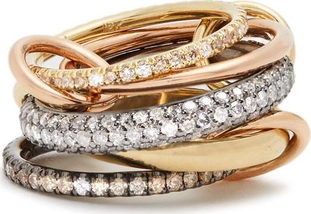 Spinelli Kilcollin Leo diamond, silver, yellow & rose-gold ring