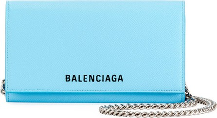 Balenciaga Ville Phone On Chain Calfskin Wallet Bag