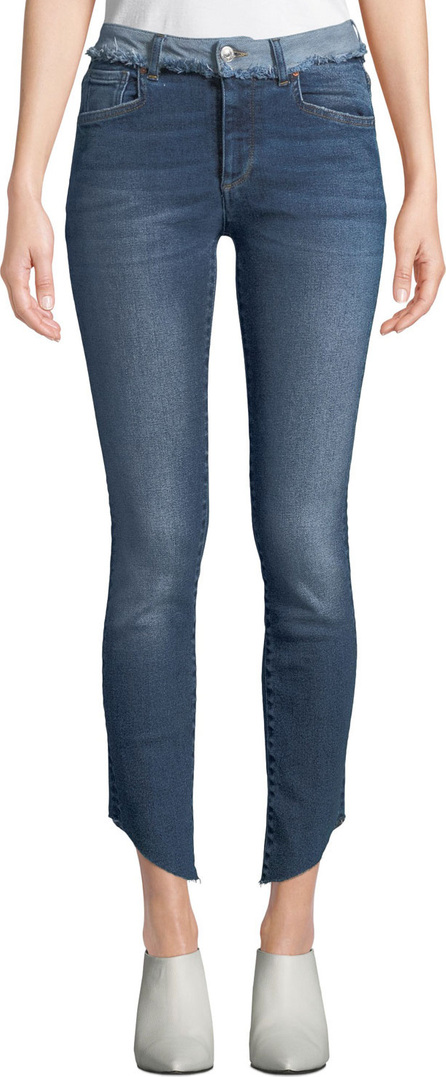 Acynetic Loren Dilone Skinny Cropped Asymmetric Jeans