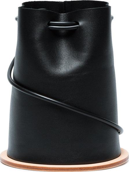 Building Block Black Disc leather bucket bag