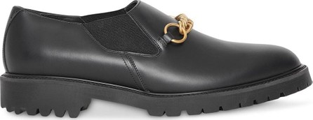 Burberry London England Link Detail Leather Shoes