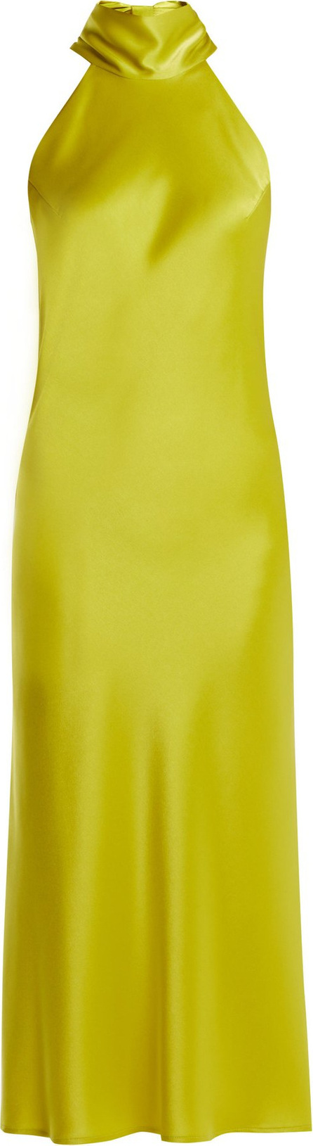 Galvan Sienna bias-cut satin dress