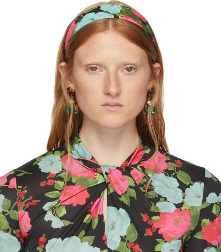 Erdem Black Noel Stewart Edition Floral Headband