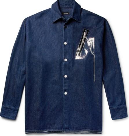 Raf Simons Oversized Embellished Denim Overshirt