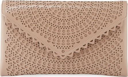 Alaïa Vienne Laser-Cut Leather Envelope Clutch