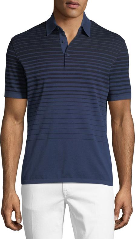 Ermenegildo Zegna Striped Polo Shirt, Blue/Black