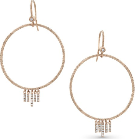 Dominique Cohen 18k Rose Gold Diamond Chevron Drop Earrings