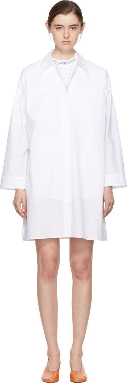 Acne Studios White Jacui Shirt Dress