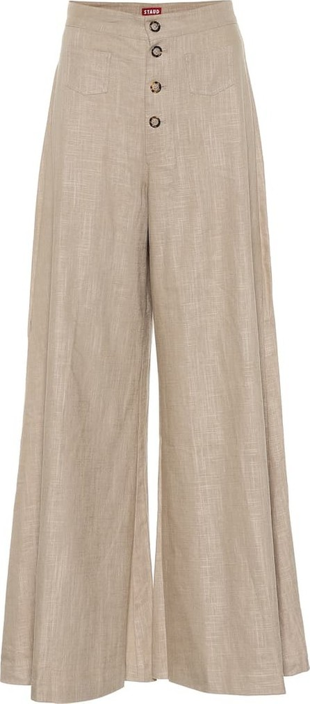 Staud Martin wide-leg linen-blend pants