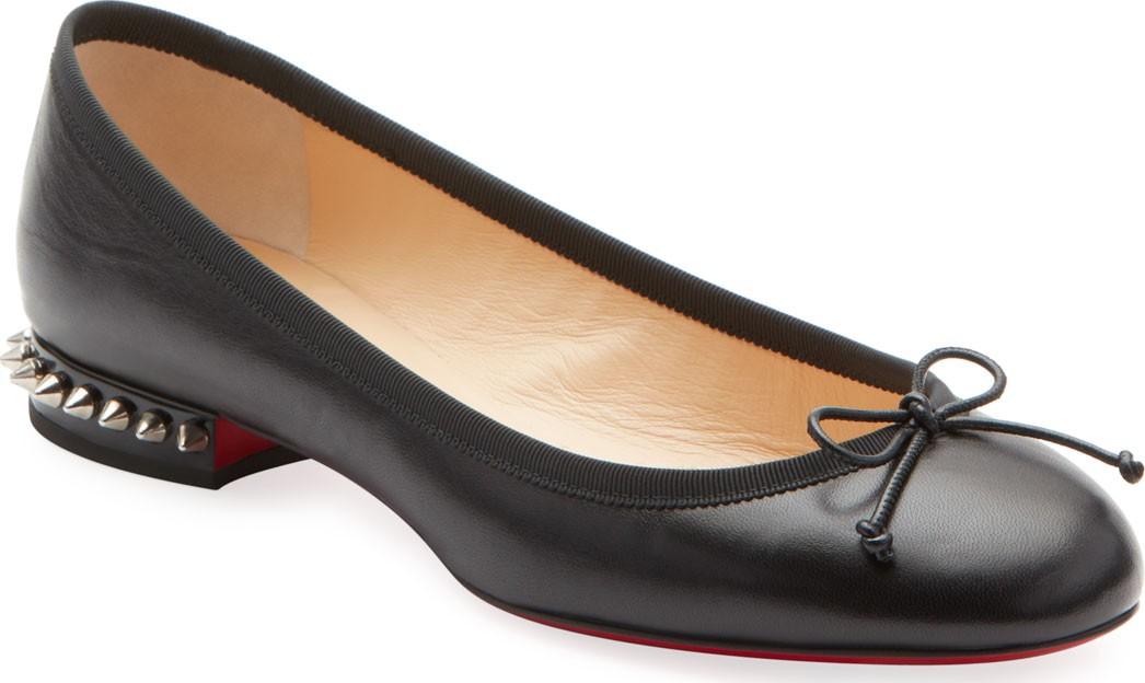 new product f8b34 4f84c Christian Louboutin La Massine Leather Spike-Heel Red Sole ...