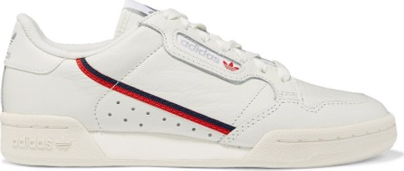 Adidas Originals Continental 80 grosgrain-trimmed leather sneakers