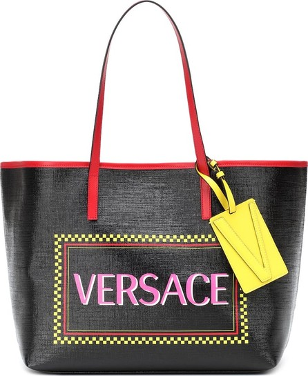 Versace Logo leather tote