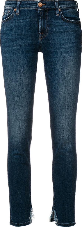 7 For All Mankind Distressed hem skinny jeans