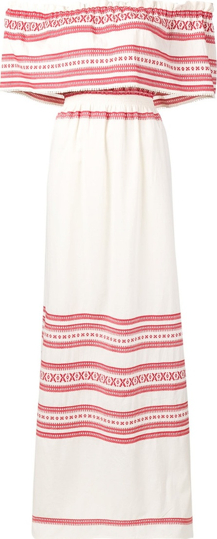 Celia Dragouni off-shoulder maxi dress
