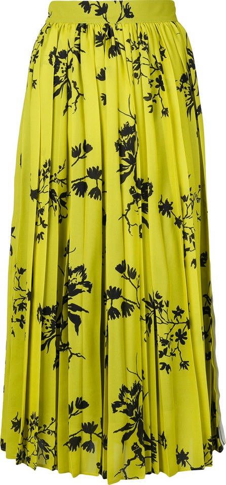 Act N°1 Floral pleated skirt