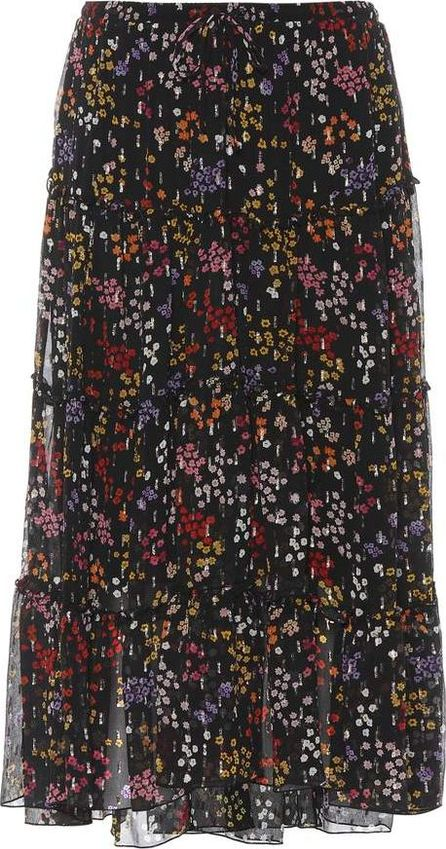 See By Chloé Floral-printed fil coupé silk skirt