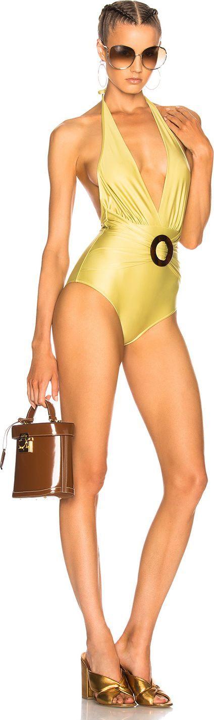Adriana Degreas Turtle Buckle Swimsuit