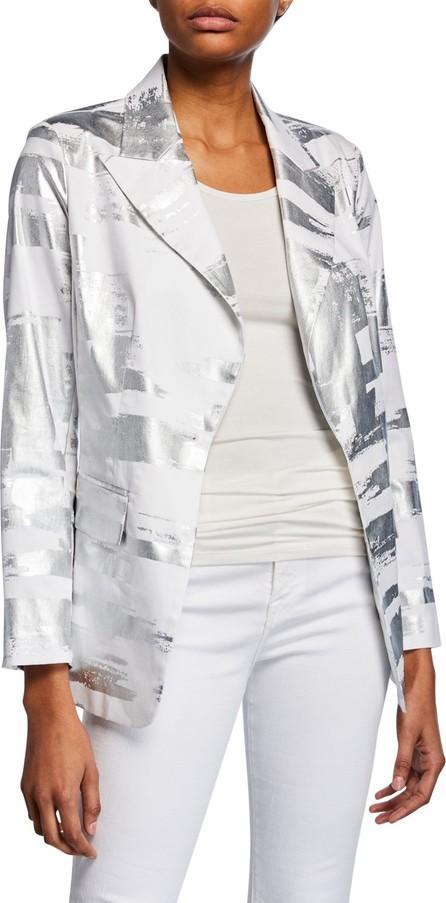 Berek Notched Collar Foil Blazer