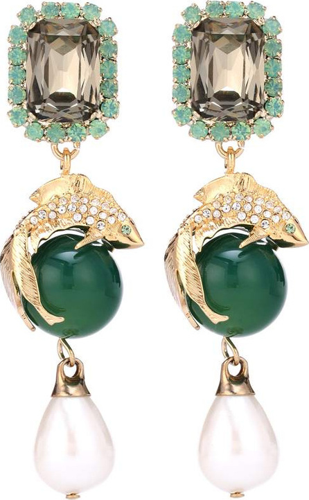 Erdem Koi clip-on earrings