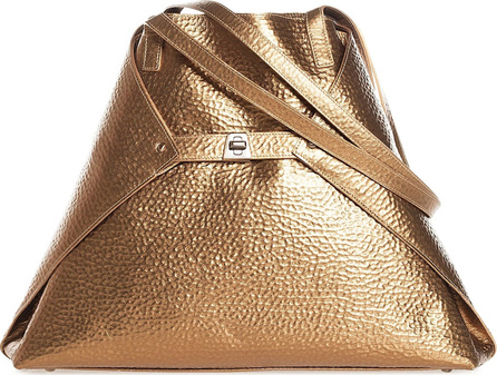 Akris AI Medium Hammered Leather Tote Bag